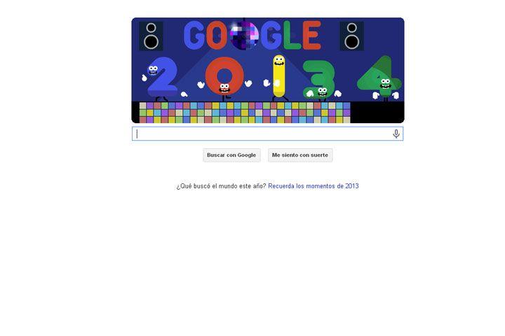 Google da la bienvenida al Año Nuevo con un nuevo doodle animado