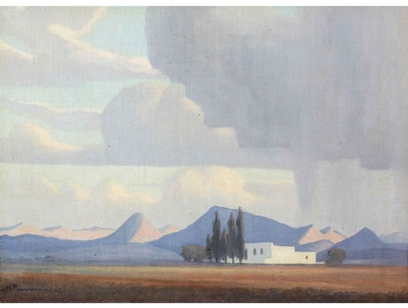 Jacob Hendrik Pierneef; Rain Clouds Approaching