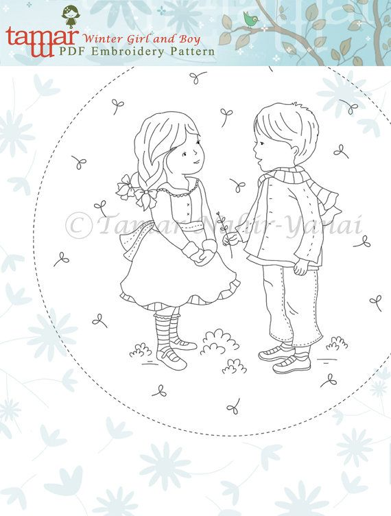 Embroidery Pattern Instant Download Winter by TamarNahirYanai