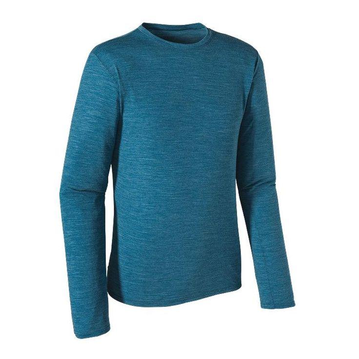 Patagonia Men\'s Long-Sleeved Merino Daily T-Shirt - Underwater Blue UWTB