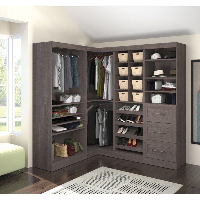 Wayfair Basics Wood Non Slip Hanger Closet System Closet Designs Corner Storage