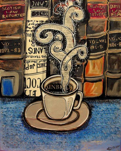 Un café y un buen libro: tarde perfecta (ilustración de Emily Garcés)