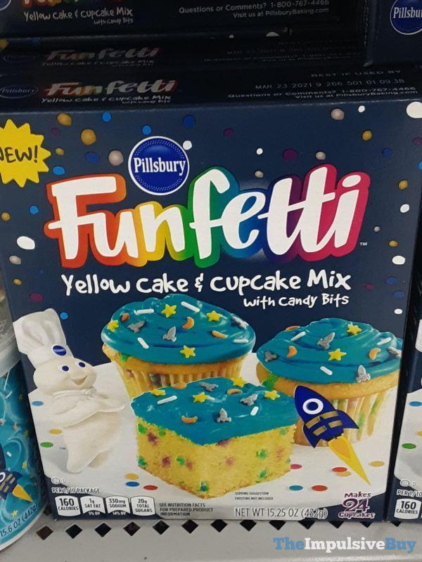 Pillsbury Funfetti Yellow Cake & Cupcake Mix with Candy Bits