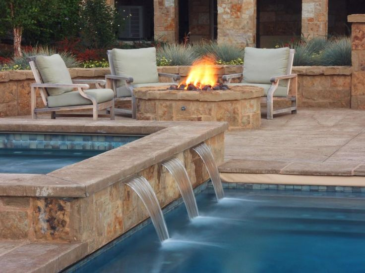 Lights Stacked Stone Wall Images On Pinterest Pool Ideas Backyard And Garden