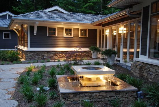 Modern high tech LED landscape lighting projects by New York Plantings Irrigation and Landscape Lighting  333 E 14 st   box 1229  Manhattan, NY 10009  646-434-8049     Site url:     http://www.newyorkplantings.com/Irrigation.html