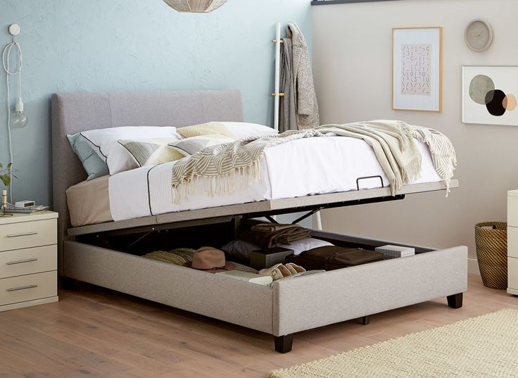 Francis Upholstered Ottoman Bed Frame Bed Designs With