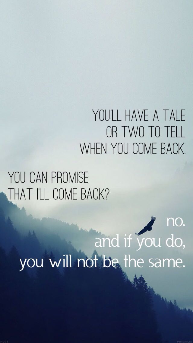 Hobbit quote between Gandalf and Bilbo. Wallpaper made for iPhone 5.