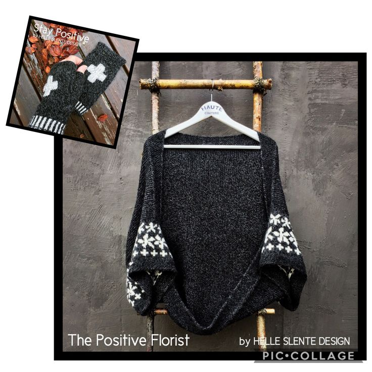 My positivity boost: The Positive Florist and Stay Positive | Ravelry knitting pattern | by HELLE SLENTE DESIGN
