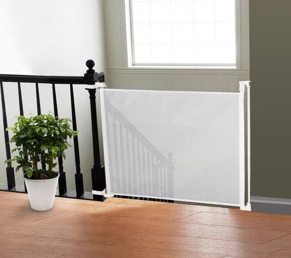 UPP® Schutzgitter Treppenschutzgitter Türschutzgitter Sicherheitsgitter ausziehbar bis 140 cm