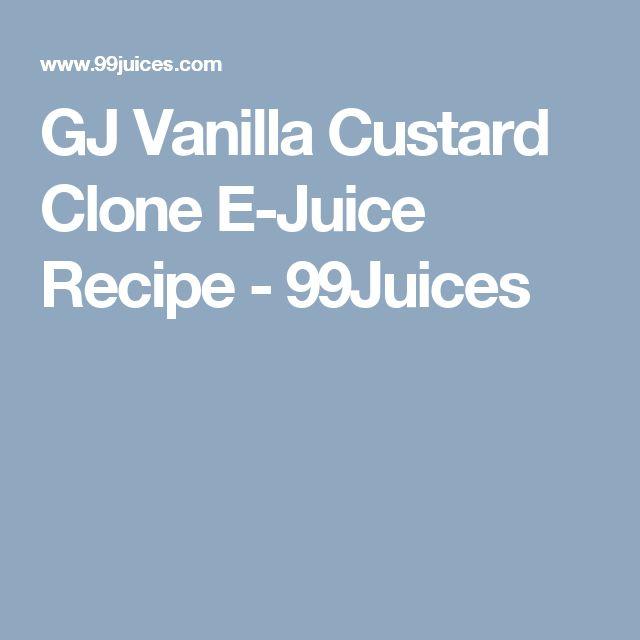 GJ Vanilla Custard Clone E-Juice Recipe - 99Juices