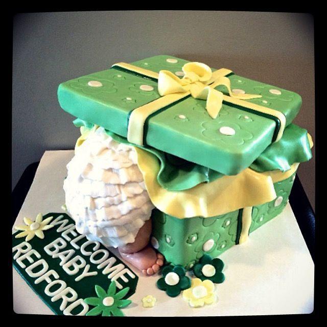 Superb Baby Shower Cakes Calgary Part - 8: Sweety Cakes - Www.sweetycakes.ca Calgary Custom Cakes! Baby Bum Present  Cake