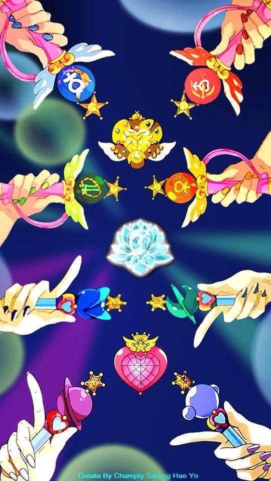 Sailor moon transformation items and silver crystal