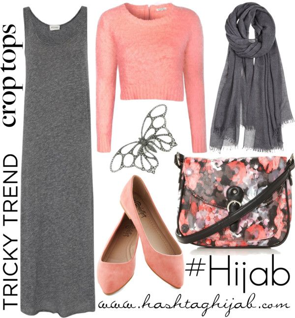 Hashtag Hijab Outfit - jersey dress with short cardigan on tops . Super cute with floral scarf