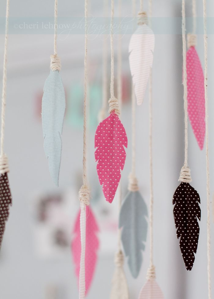 DIY birds of a feather mobile