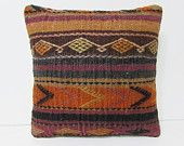 zippered kilim pillow tribal rug pillow slip cover southwest pillow case wool rug turkish pillow case country home decor boho pillow 26323
