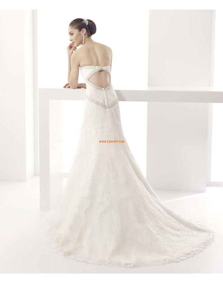 Col en cœur Tulle Zip Robes de mariée 2015