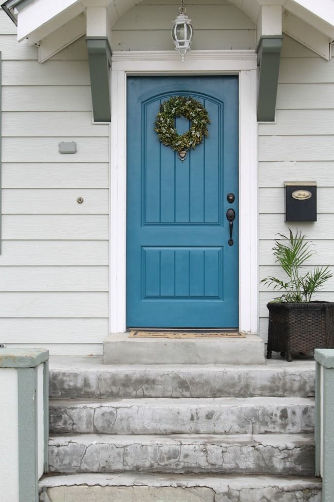 The Wicker House: Painted Exterior Front Door