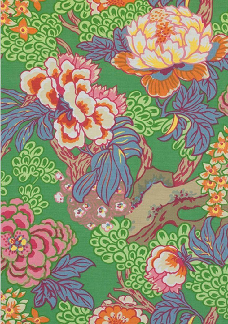 THIBAUT Wallpaper Honshu wallpaper large floral wallpaper