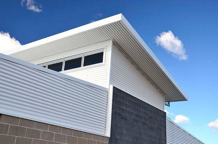 colorbond roof - roof shape and high windows