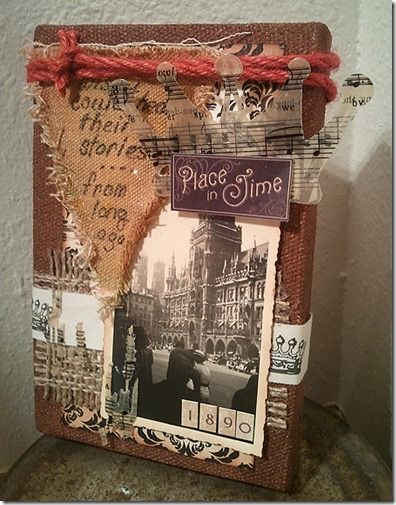 Mixed Media Canvas with Ice Resin - Spellbinders & Canvas Corp