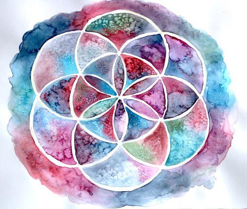 Watercolor Mandala :)