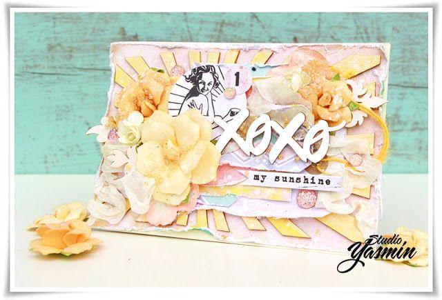 XOXO my Sunshine Card - DT Scrapki-Wyzwaniowo! - Made for the July challenge.. www.yasminscrapperier.blogspot.com