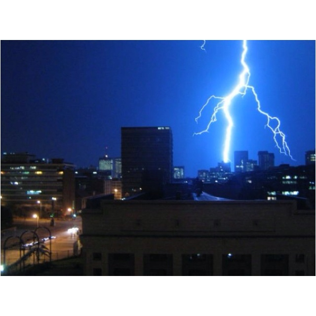 A summer thunderstorm in Pretoria, South Africa. Just magnificent!!