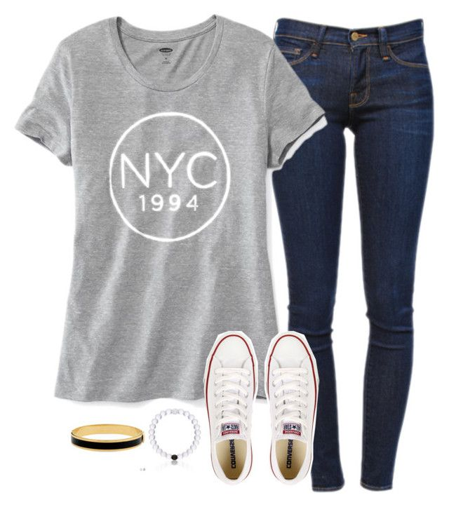 """//I keep craving, craving you\\"" by lizzielane33 ❤ liked on Polyvore featuring Frame Denim, Old Navy, Converse and Halcyon Days"