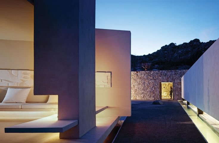 Casa Finisterra is located in Cabo San Lucas, Mexico, architecture: Steven Harris Architects, interior design: Rees Roberts + Partners.Partners.