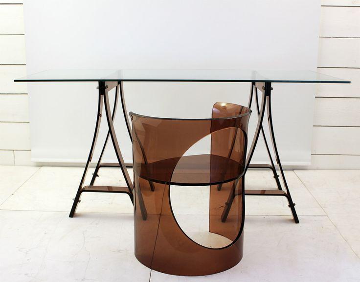 антикварный письменный стол и кресло, 20 век