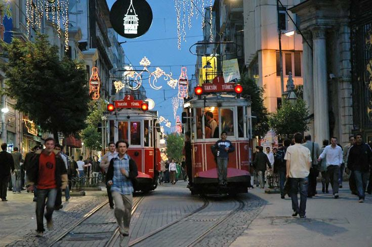 İstiklal Street, evening / Istanbul