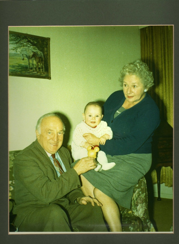 Mummy as a baby with Gt. Grandpa Jack and Gt. Grandmum Gwendolen