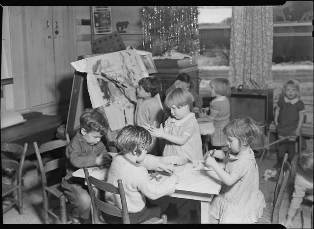 Scott's Run, West Virginia. Interior of the Jere WPA nursery - These children are from unemployed miners' homes, March 1937 | Flickr - Photo Sharing!