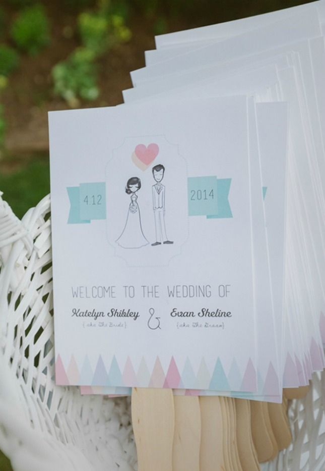 Paper fan programs are perfect for summer weddings.