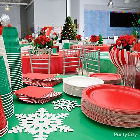 super easy table decorations for my girl scout christmas party