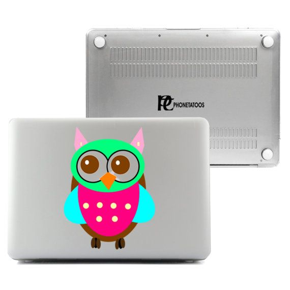 "Colorful Owl For MacBook Air 13"", Mac Pro 13"", Mac Pro 13"" Retina, Mac Pro 15"", Mac Pro 15"" Retina Transparent Plastic Hard Case cover"