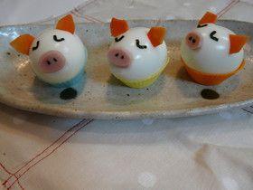 『三匹の子豚』なゆで卵 簡単キャラ弁に