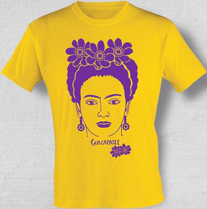 Camiseta Frida. Você pode levar para sua casa um pedacinho do méxico e do Guacamole. Frida Kahlo. Camiseta. Mexico. Guacamole