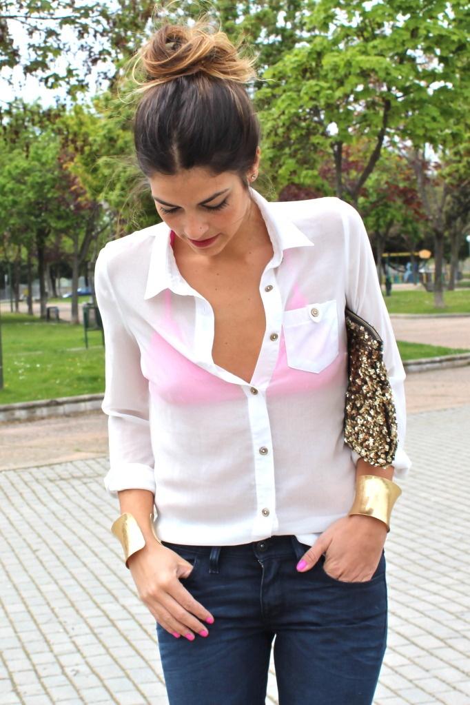 45 best magenta ix sandals outfits for White bra white shirt