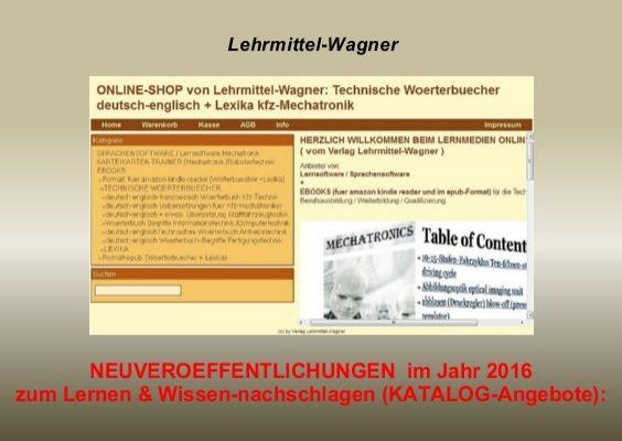 Angebote Sommer 2016 billig Business English Uebersetzungen Kfz Woerterbuch Grundlagen Mechatronik Neuerscheinung