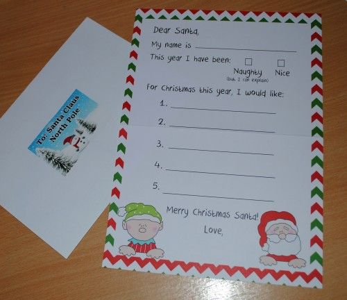 Letter to Santa kit with Envelope   Your child will love writing their Letter to Santa and sent it in the envelope included with santa address on it.  Kit includes: 1 letter  1 envelope with...@ artfire