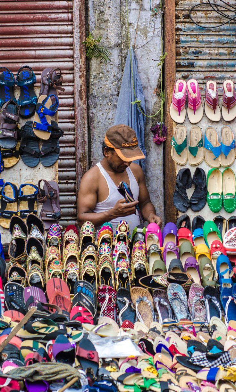 The Shoe Seller, Calcutta, India
