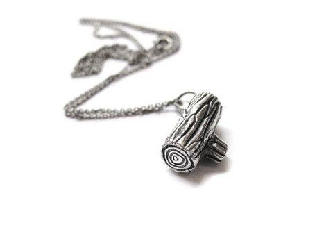 Mini Stump (log) necklace <3   by Elaine Ho
