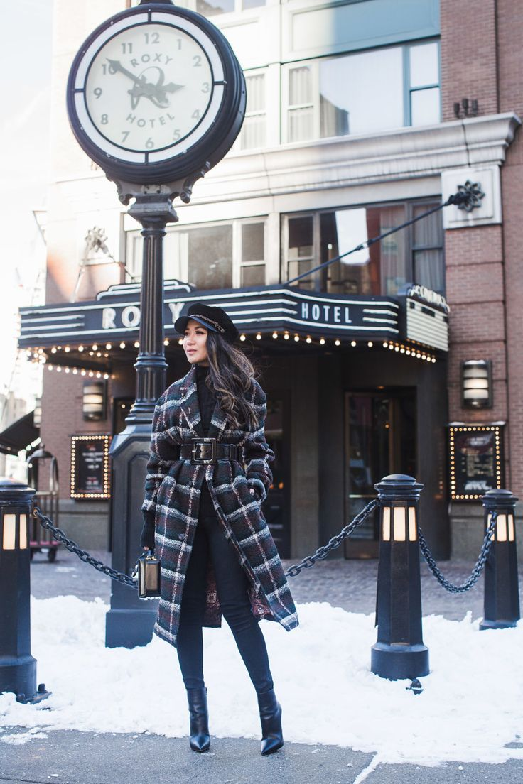 His and Hers Style :: Plaid coat & Black boots