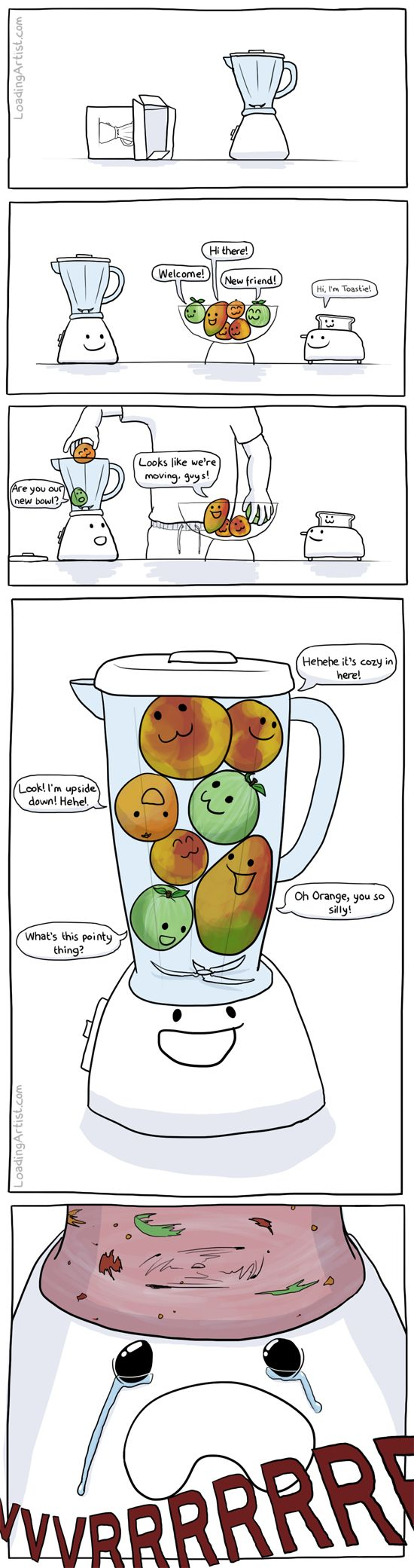 Blender Problems. I will never make a smoothie without thinking of this again! ;(