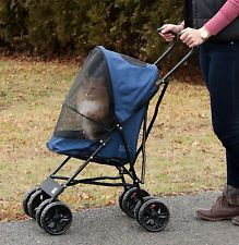Pet Gear Travel Lite Dog Cat Stroller Lightweight 9lbs Large Wheels Tall Handle