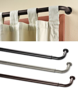 corner complete curtain rods wrap your curtains around to the wall for privacy or to block