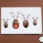 Reindeer Family Thumbprint Card {Christmas Cards}