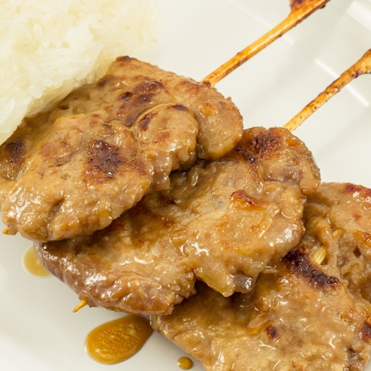 These pork skewers make a great little appy dish.. Pork Skewers Recipe from Grandmothers Kitchen.