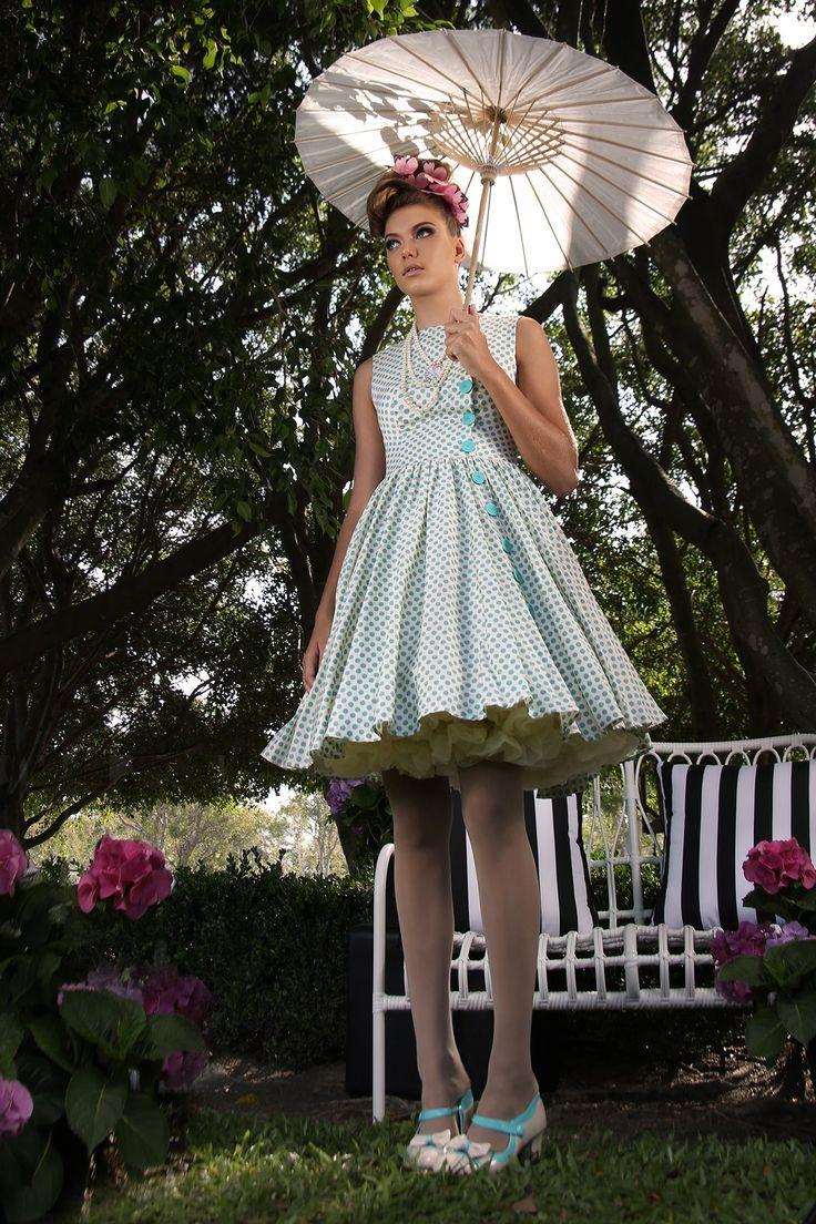 Pretty Birdie Button Dress